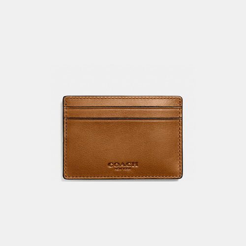 COACH MONEY clip card case SADDLE