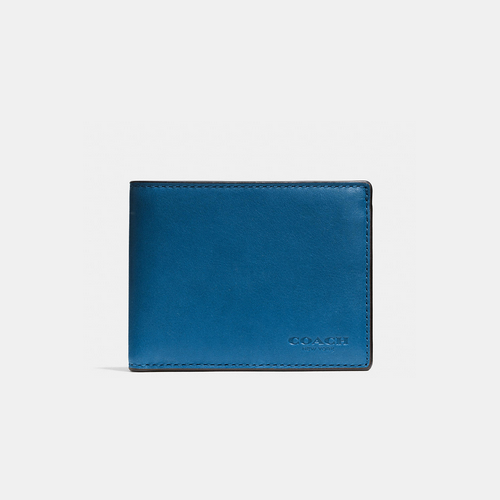 COACH SLIM billfold id wallet DENIM