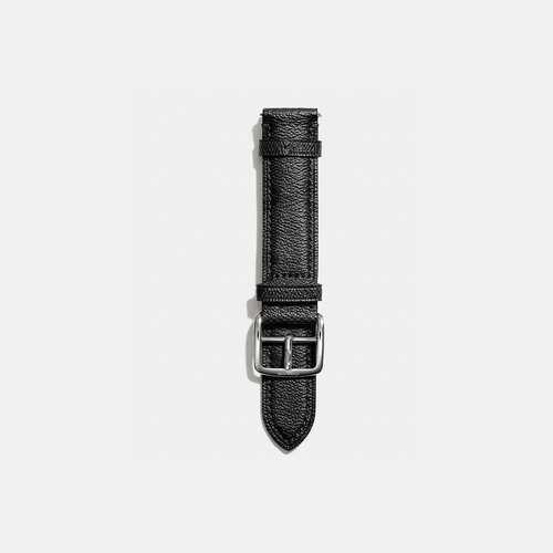 COACH BLEECKER signature leather watch strap BLACK/GREY