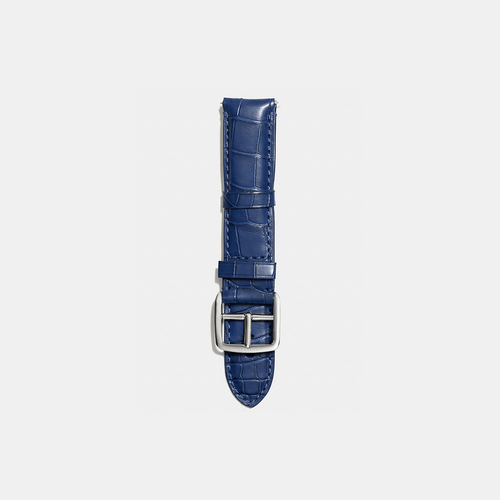 COACH BLEECKER watch strap in crocodile NAVY