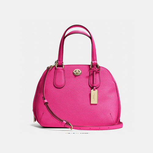 COACH PRINCE street mini satchel LIGHT GOLD/PINK RUBY