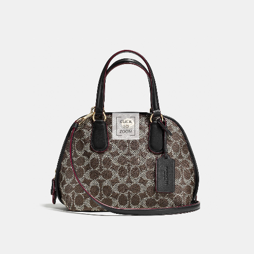 COACH PRINCE street mini satchel LIGHT GOLD/SADDLE/BLACK