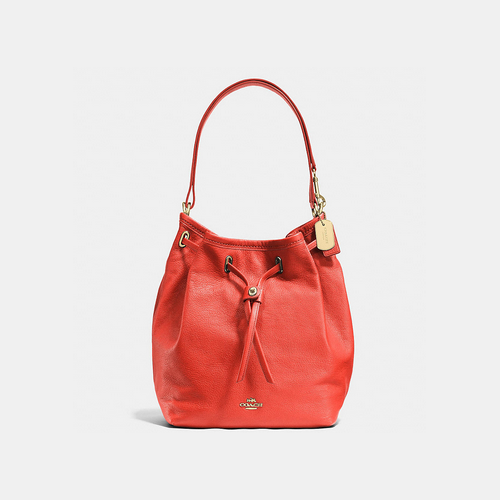 COACH TURNLOCK tie bucket bag LIGHT GOLD/WATERMELON