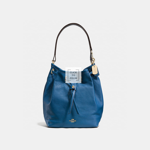 COACH TURNLOCK tie bucket bag LIGHT GOLD/DENIM