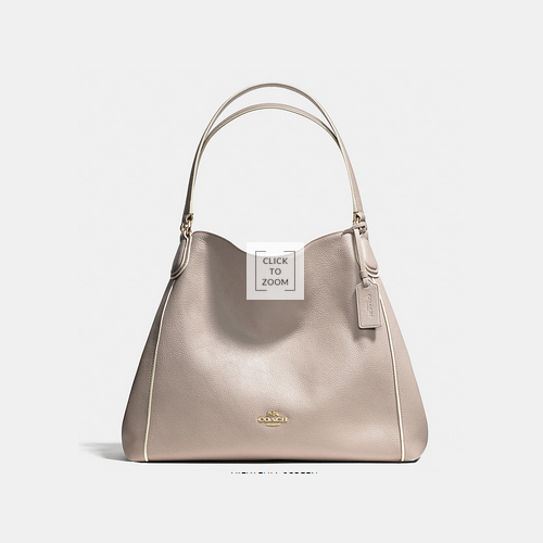 COACH EDIE shoulder bag LIGHT GOLD/GREY BIRCH/CHALK