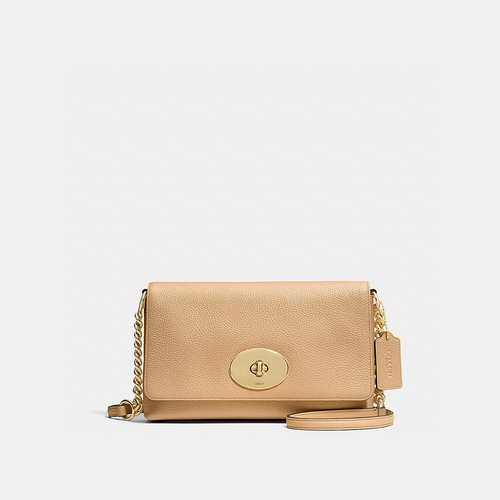 COACH CROSSTOWN crossbody LIGHT GOLD/NUDE