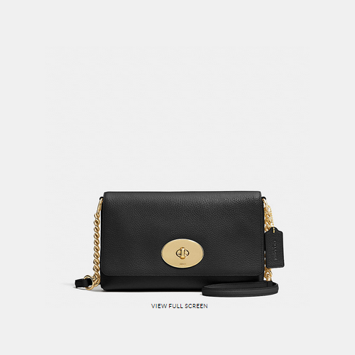 COACH CROSSTOWN crossbody LIGHT GOLD/BLACK
