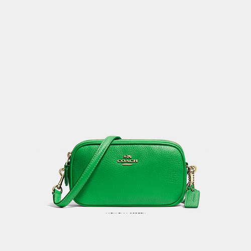 COACH CROSSBODY pouch LIGHT GOLD/GREEN