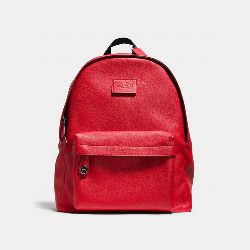 COACH CAMPUS backpack BLACK ANTIQUE NICKEL/RED