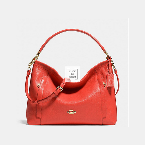 COACH SCOUT hobo LIGHT GOLD/WATERMELON