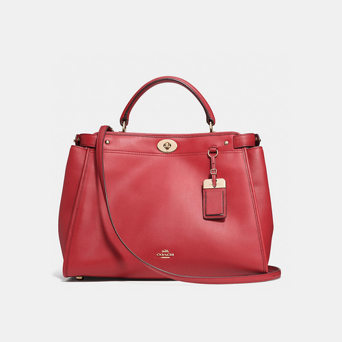 COACH GRAMERCY satchel LIGHT GOLD/RED CURRANT