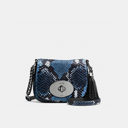 COACH LIV crossbody BLACK ANTIQUE NICKEL/DARK DENIM MULTICOLOR/NAVY
