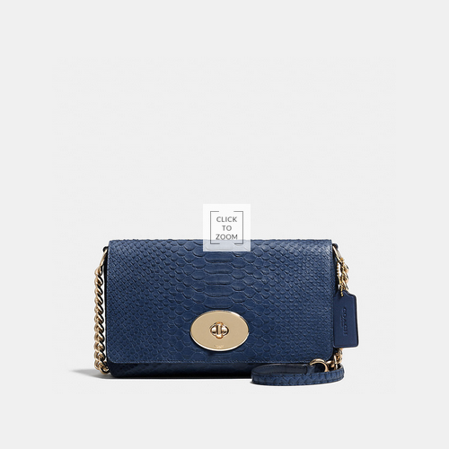 COACH CROSSTOWN crossbody LIGHT GOLD/DENIM