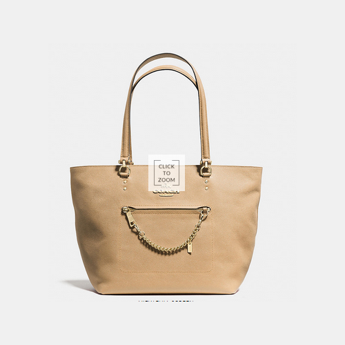 COACH TOWN car tote LIGHT GOLD/NUDE