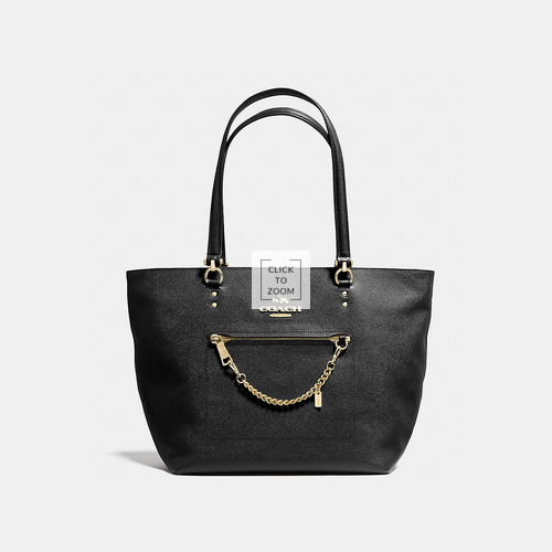 COACH TOWN car tote LIGHT GOLD/BLACK