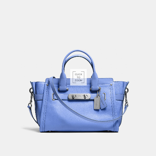 COACH swagger WARM ROLLER NICKEL/PERIWINKLE