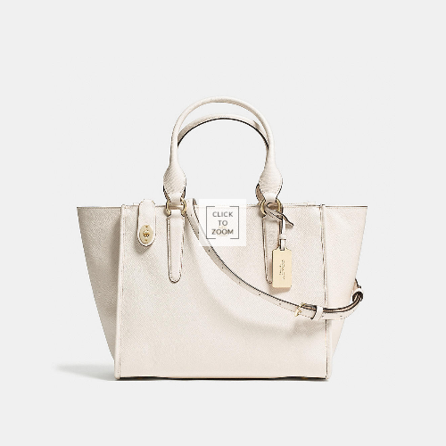 COACH CROSBY carryall LIGHT GOLD/CHALK