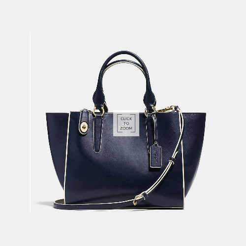 COACH CROSBY carryall LIGHT GOLD/NAVY/CHALK