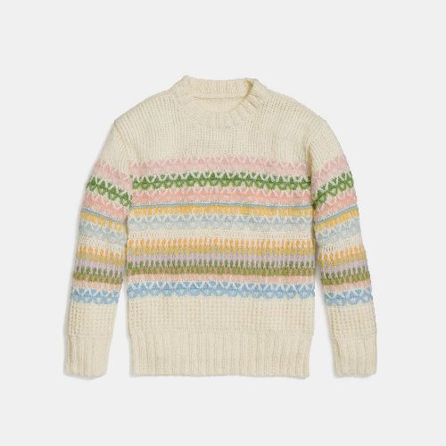 COACH PASTEL fair isle slouchy pullover MULTICOLOR