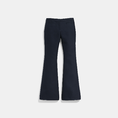 COACH COTTON flare trouser NAVY