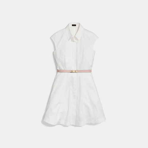 COACH SHIRT dress CHALK