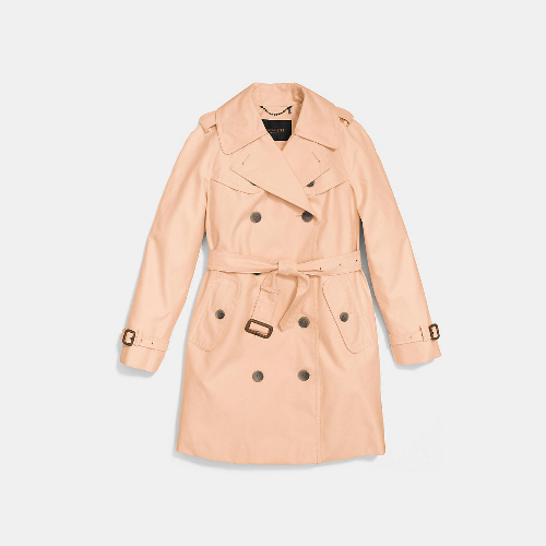 COACH MID-LENGTH trench APRICOT