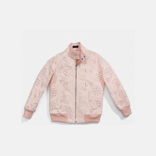 COACH LACE harrington raglan jacket