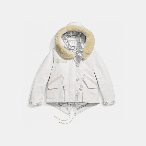 COACH SNORKEL jacket SOFT WHITE