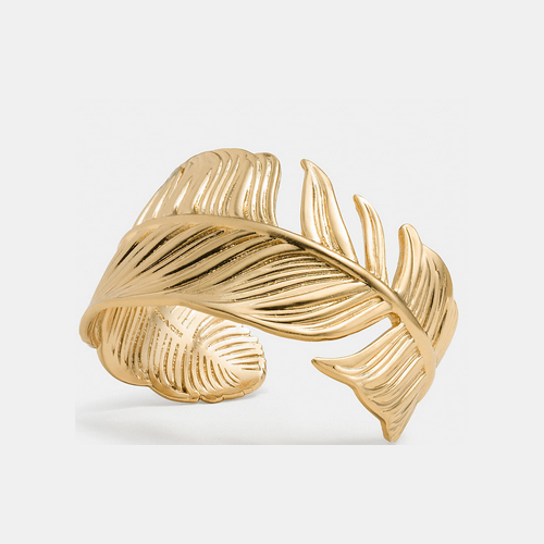 COACH FEATHER cuff GOLD