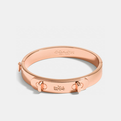 COACH METAL swagger hinged bangle ROSEGOLD