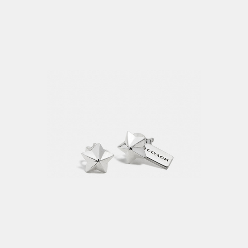 COACH STERLING star stud earrings SILVER/SILVER