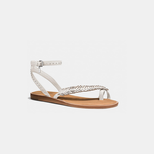 COACH BEACH sandal CHALK