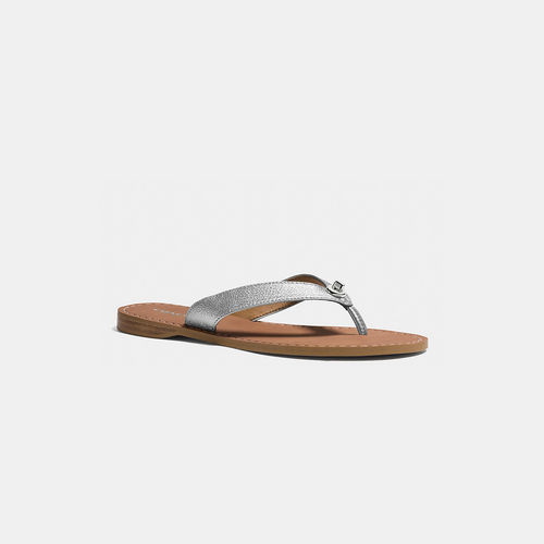 COACH CHAPEL sandal BRIGHT SILVER