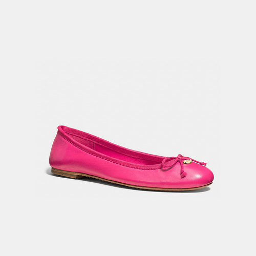 COACH FLORABELLE flat PINK RUBY