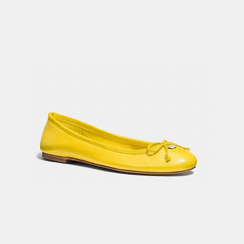 COACH FLORABELLE flat YELLOW