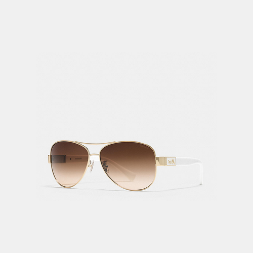 COACH CHRISTINA sunglasses GOLD/WHITE