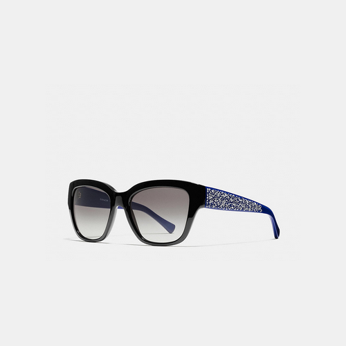 COACH SIGNATURE spray sunglasses BLACK/BLUE