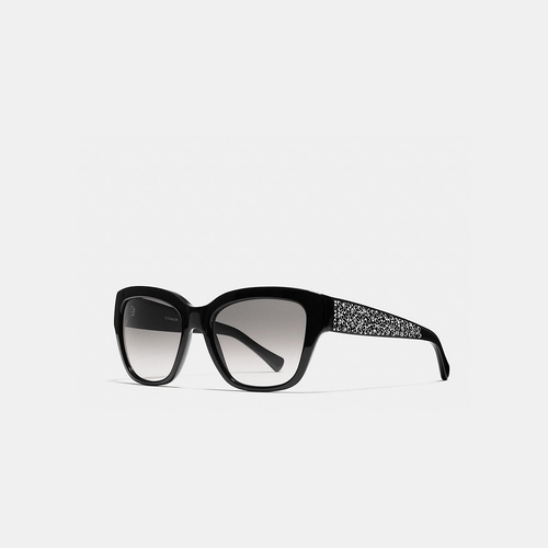 COACH SIGNATURE spray sunglasses BLACK