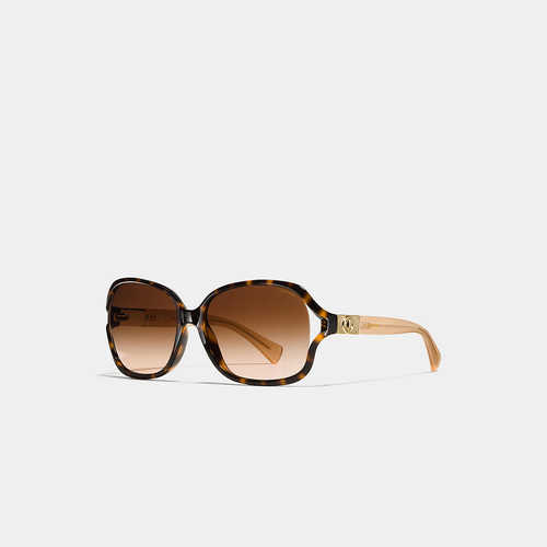 COACH CARROLL sunglasses DARK TORTOISE/HONEY