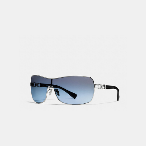 COACH CORT sunglasses SILVER/BLACK