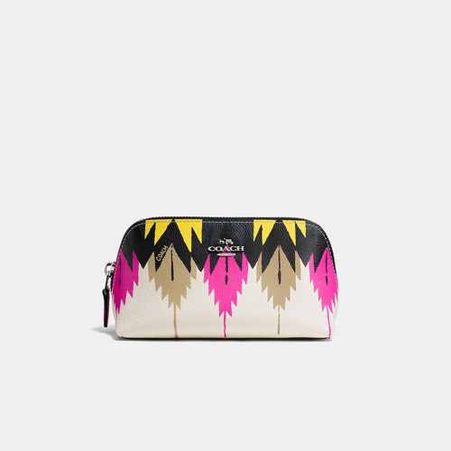 COACH COSMETIC case 17 SILVER/HAWK FEATHER