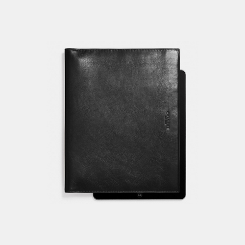 COACH BIFOLD ipad case BLACK