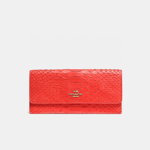 COACH SOFT wallet LIGHT GOLD/WATERMELON
