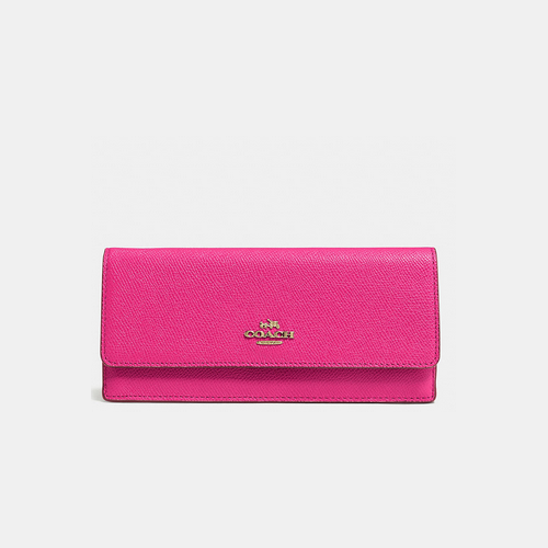 COACH SOFT wallet LIGHT GOLD/PINK RUBY