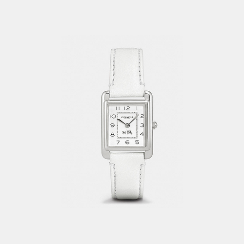 COACH PAGE stainless steel strap watch WHITE