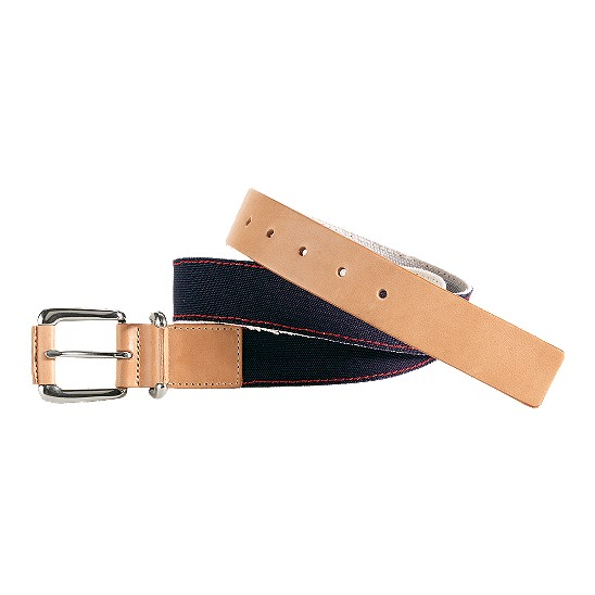 Cole Haan Port Clyde Belt Navy Canvas/Buff