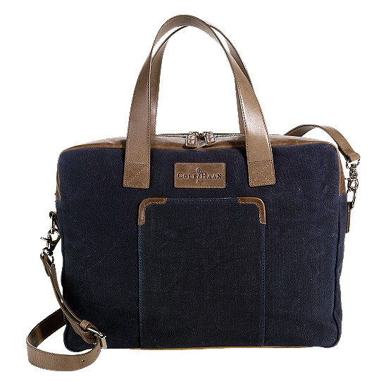 Cole Haan Merced Zip Top Brief Navy Canvas/Taupe