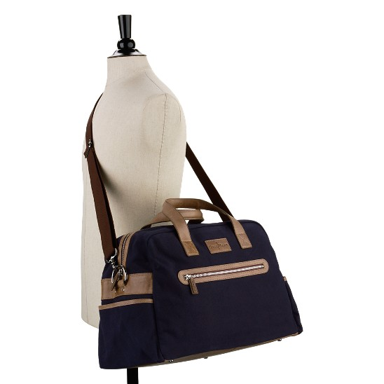 Cole Haan Merced Weekender Navy Canvas/Taupe