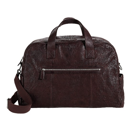 Cole Haan Merced Weekender Dark Brown Washed