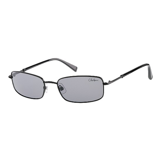 Cole Haan Polar Metal Rectangle Sunglasses Black